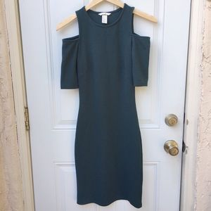 H&M Green Bodycon Cold Shoulder Dress